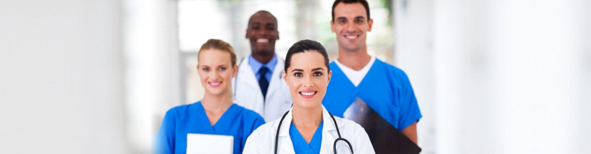 happy medical professionals